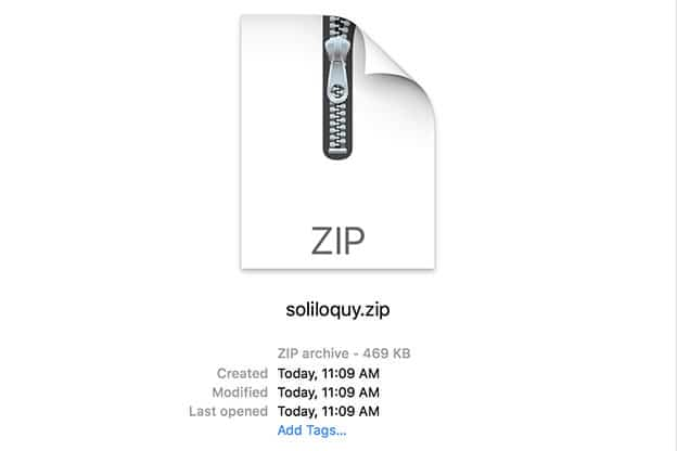 The Soliloquy plugin will appear as a .zip file on your computer.