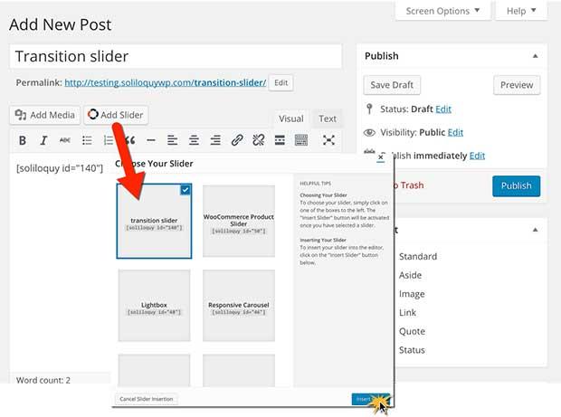 Add Custom Transition Effects in your WordPress Slider