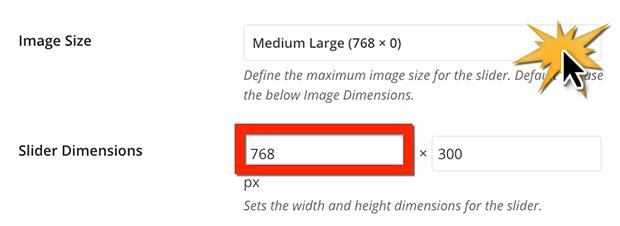 WordPress slider image size