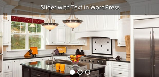 Slider with Text in WordPress