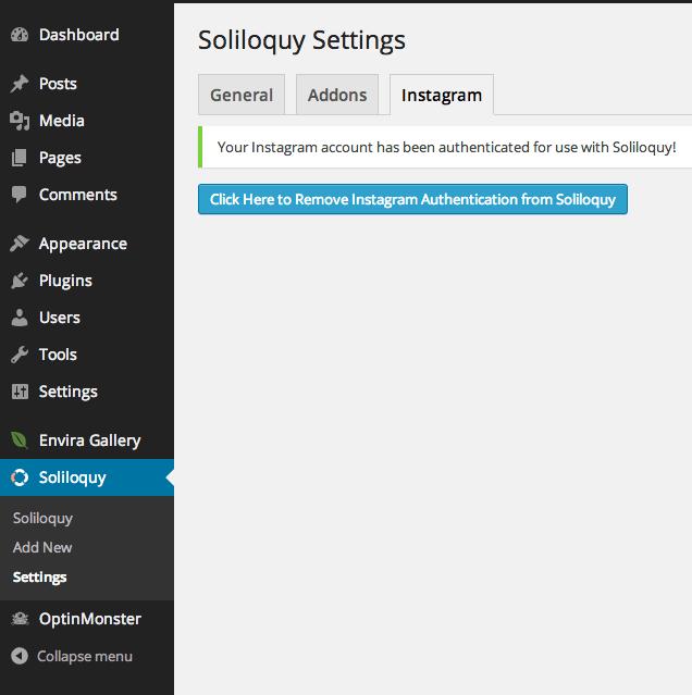 Soliloquy - Instagram Integrated