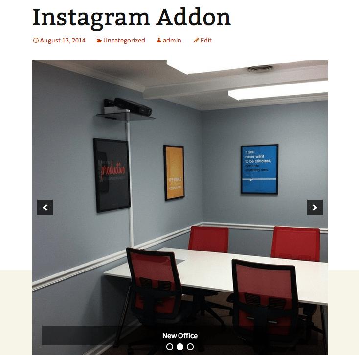 Instagram Slider
