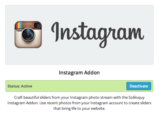Soliloquy - Instagram Addon