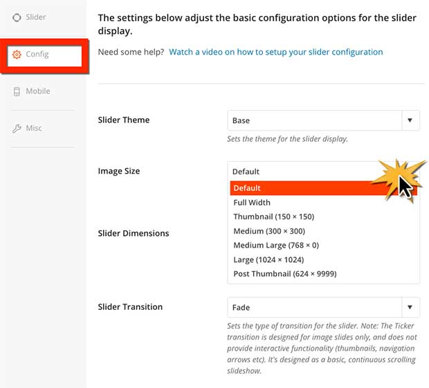 How to Configure Featured Content Slider