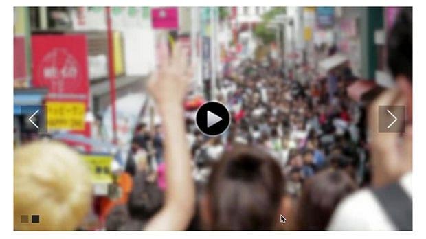 Published video slider
