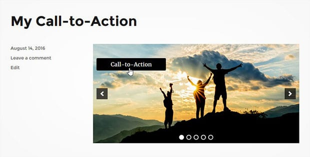 A WordPress Slider with Call-to-Action Button
