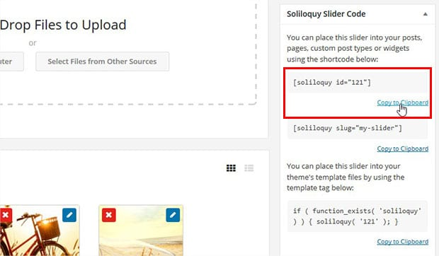 How to Copy Soliloquy Shortcode
