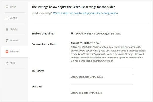 Schedule Slides