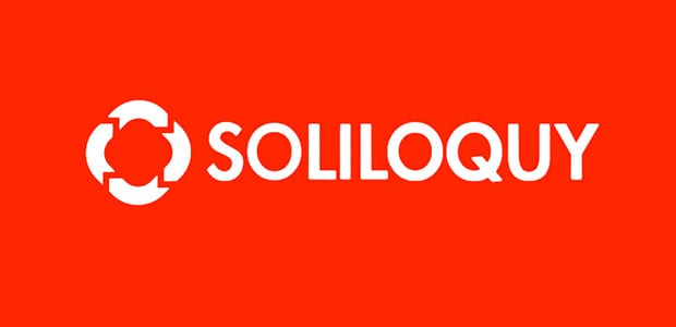 Soliloquy Logo on red background