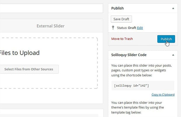 Publish Slider
