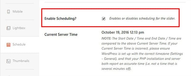 Enable Scheduling