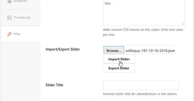 Import Slider