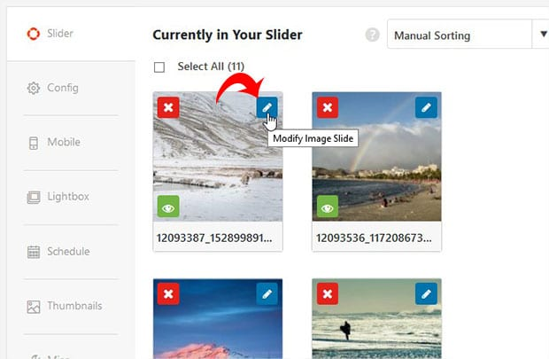 Modify Slide