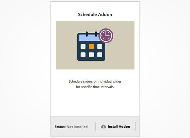 Schedule Addon