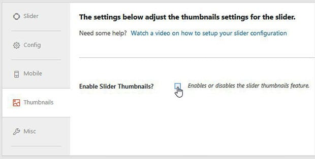 Enable Slider