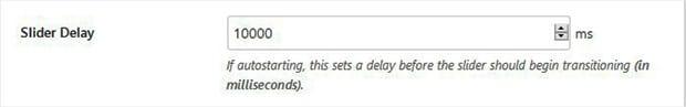 Add a Slider Delay