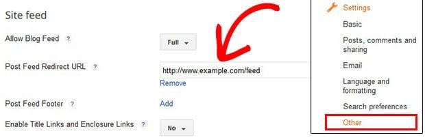 Site Feed URL