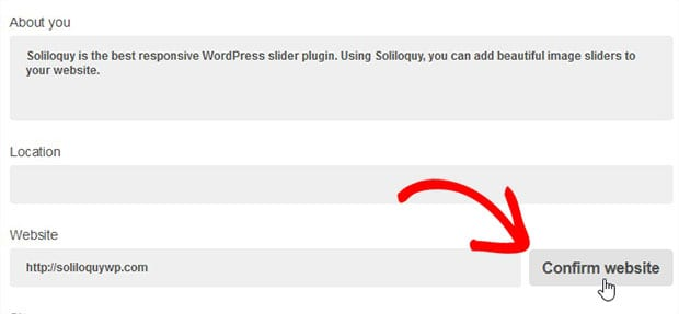 how to add soliloquy to header