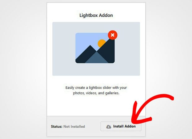 Install Lightbox Addon