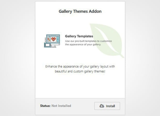 Gallery Themes Addon