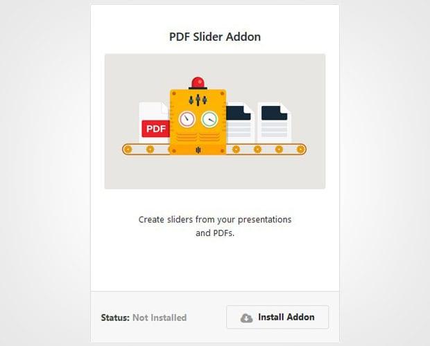 PDF Slider Addon