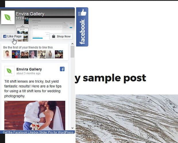 WordPress Facebook Like Slider