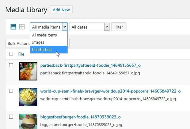 Filter Media Library