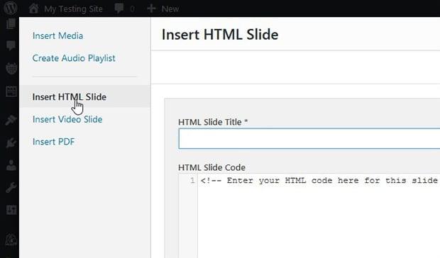 Insert HTML Slide
