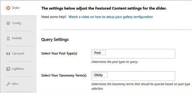 Select Post Type and Taxonomy