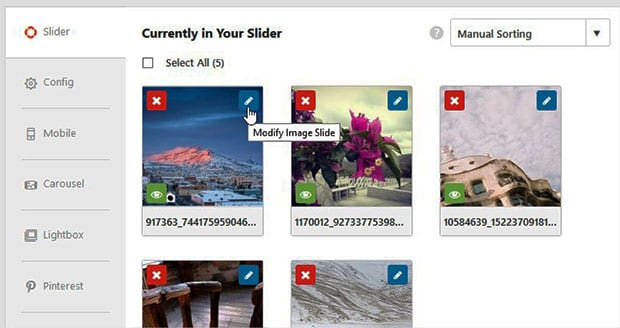 Modify Image Slider