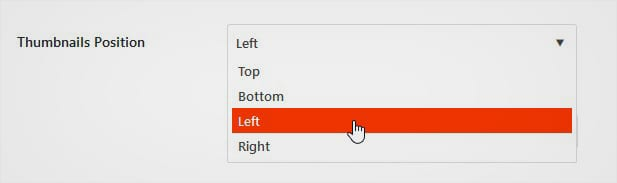 Thumbnail Position