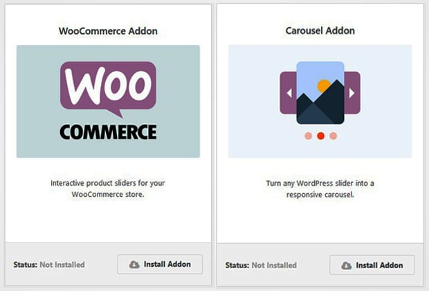 WooCommerce and Carousel Addon