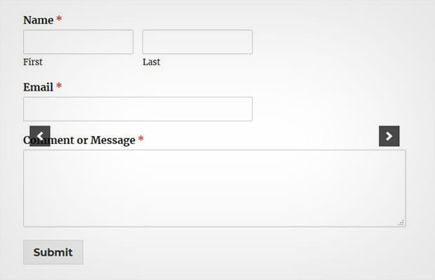 WordPress Slider with Contact Form