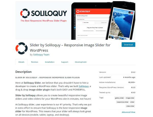 Soliloquy plugin