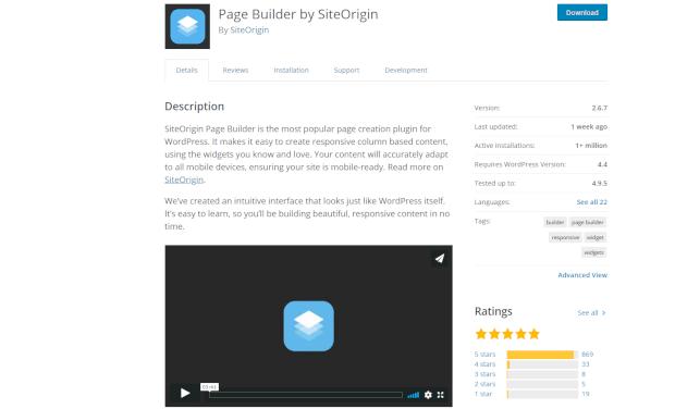 PageBuilder by SiteOrigin