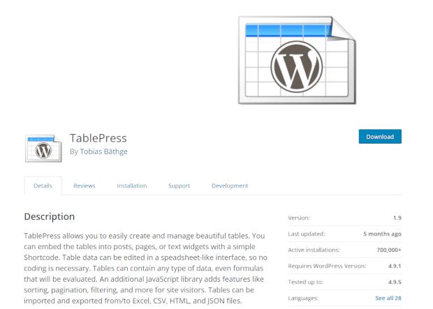 TablePress