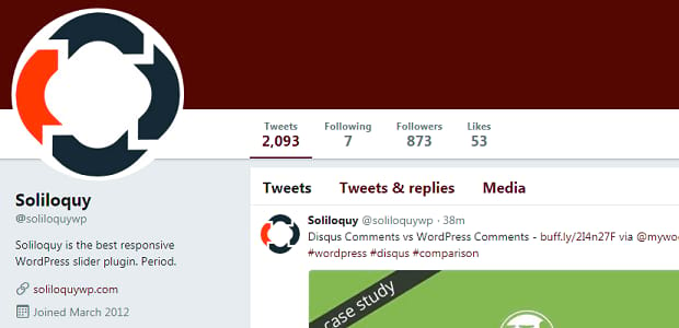 Soliloquy Twitter account