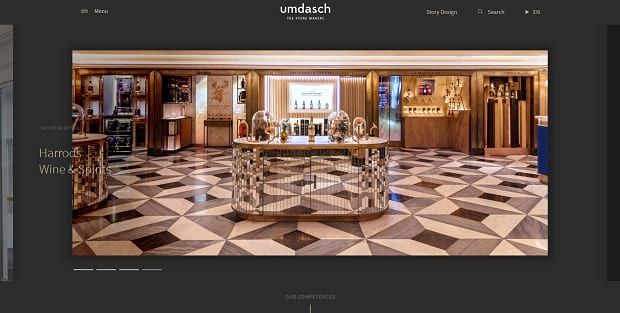 umdahs's homepage slider, using large images and unique navigation bars