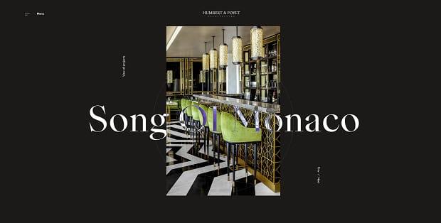 Humbert & Poyet Architecture's interesting and unusual vertical portfolio slider