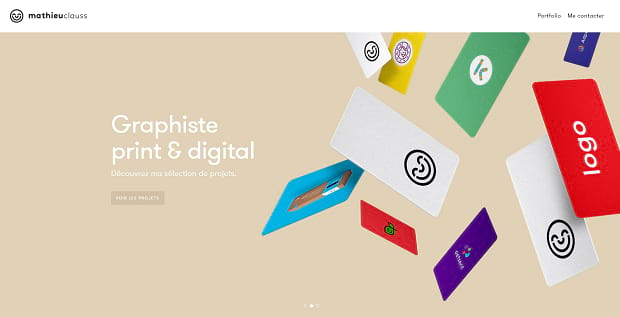 Mathieu Clauss's automated, full-width homepage slider