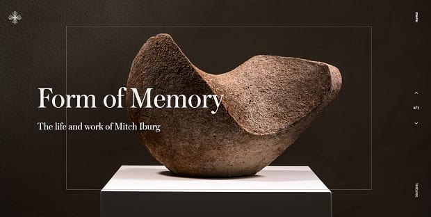 Sage Culture's full-width slider, showcasing a large, interestingly carved rock