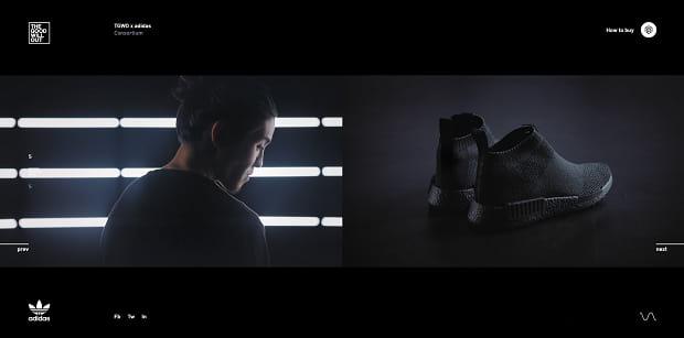 Ankoku Toshi Jutsu's full-width slider, featuring a dark, epic aesthetic