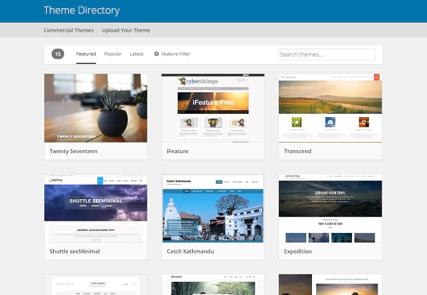 theme directory