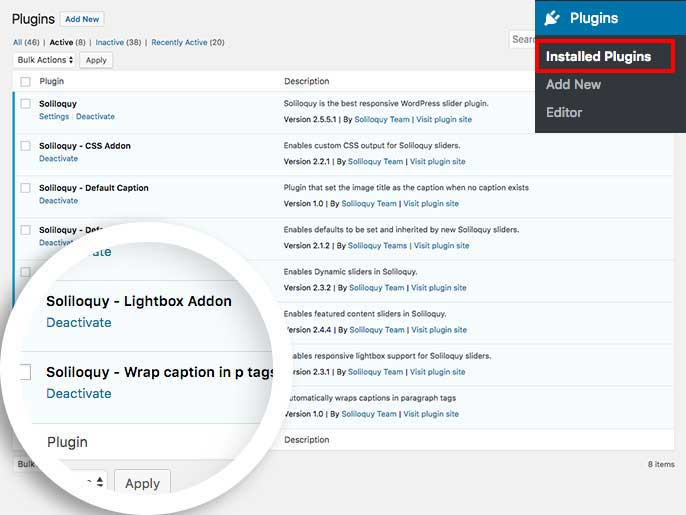 Activate the custom plugin to automatically wrap captions in paragraph tags
