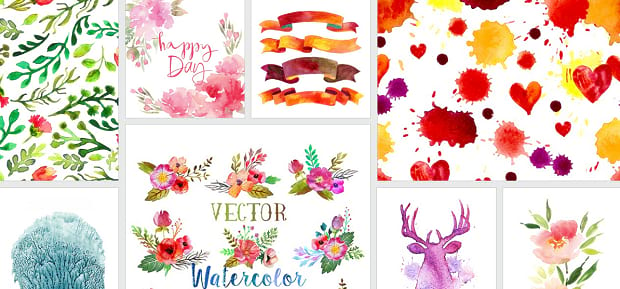 A masonry layout of some of the different vector illustrations available from VectorStock