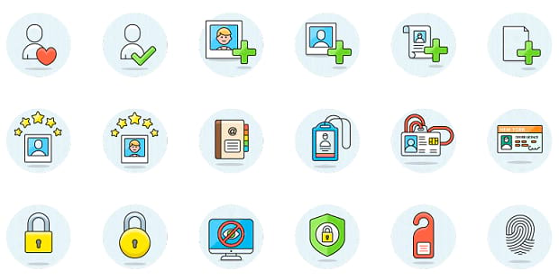 Streamline Icons' package of icons, with several simple example icons shown