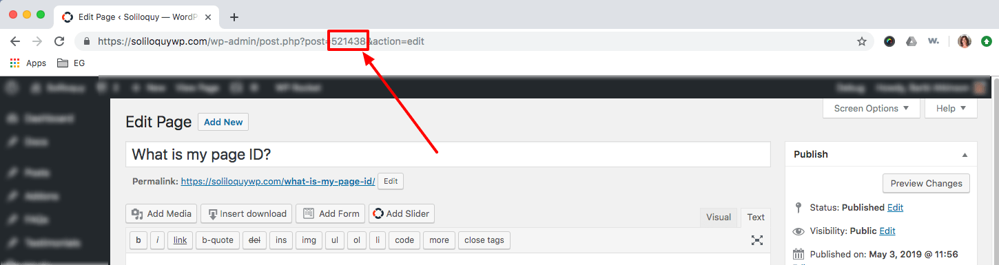 How to find my page ID