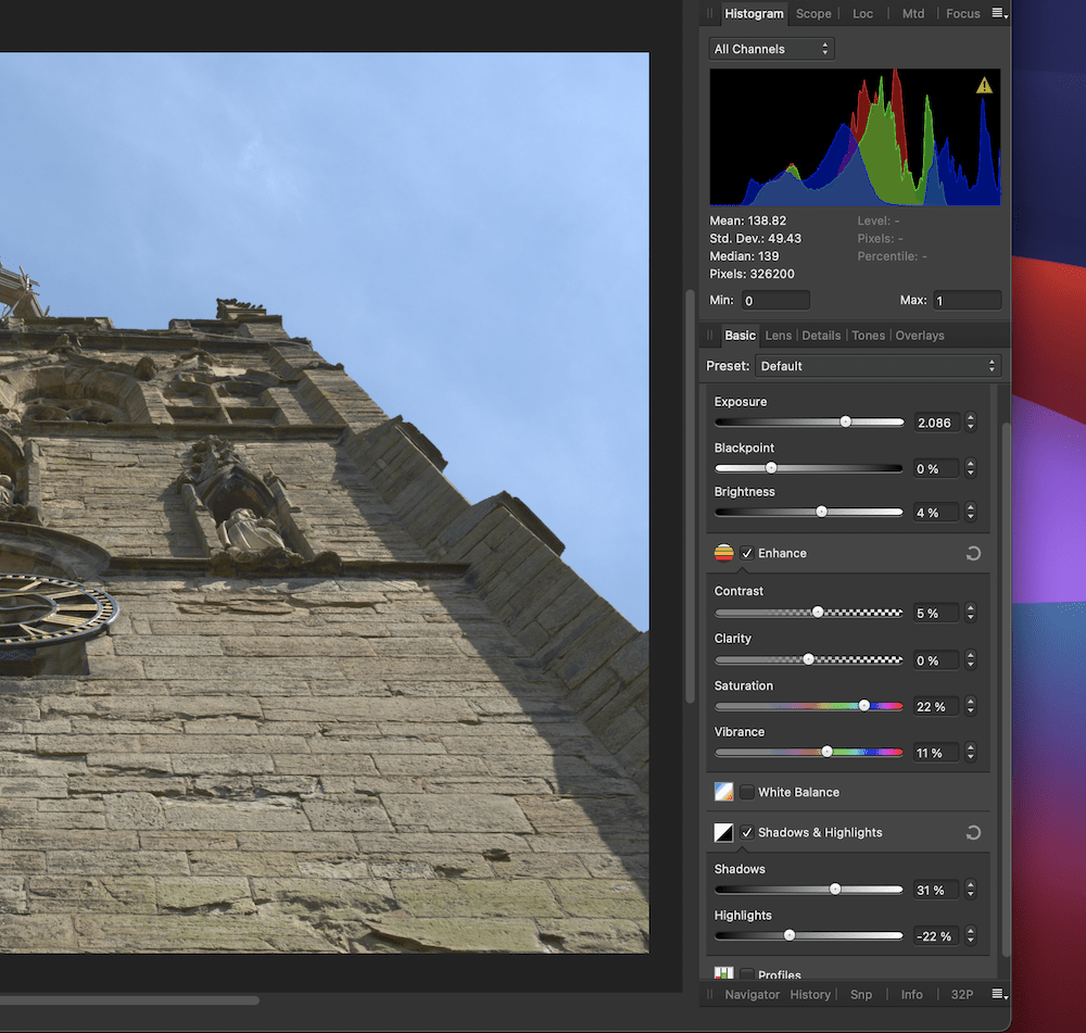Affinity Photo's RAW processing.