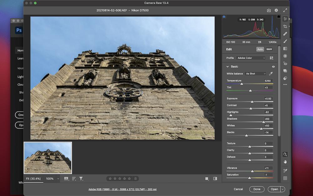Adobe Camera RAW.